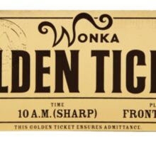 Wonka - Golden Ticket Sticker