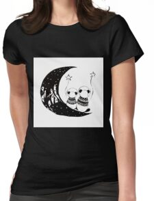 Panda's adventures Womens Fitted T-Shirt