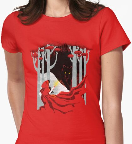 Into the Woods Womens Fitted T-Shirt