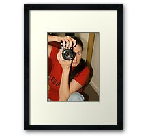 Shooting Vicki Ferrari July 2010 © Framed Print