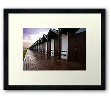 Bridlington beach huts Framed Print