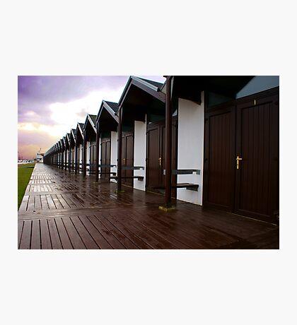 Bridlington beach huts Photographic Print