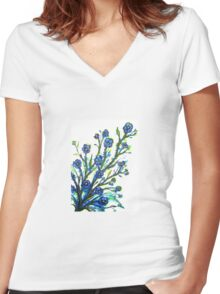 Forget-Me-Not - Flowers Women's Fitted V-Neck T-Shirt