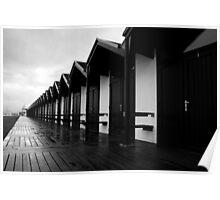 Bridlington beach huts Poster
