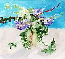 flowers in oils by Keith Corbett