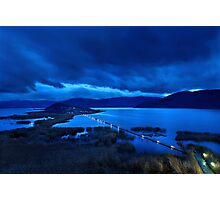 The floating bridge of Agios Achileios Photographic Print