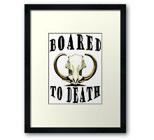 Boar-ed to Death Framed Print