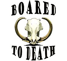 Boar-ed to Death Photographic Print