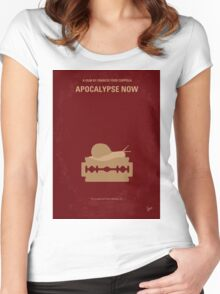 No006 My Apocalypse Now minimal movie poster Women's Fitted Scoop T-Shirt