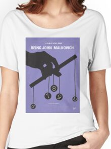 No009 My Being John Malkovich minimal movie poster Women's Relaxed Fit T-Shirt