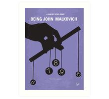 No009 My Being John Malkovich minimal movie poster Art Print