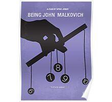 No009 My Being John Malkovich minimal movie poster Poster
