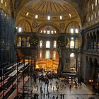 Hagia Sofia interior, Istanbul, Turkey by Christopher Cullen
