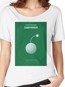 No013 My Caddyshack minimal movie poster Women's Relaxed Fit T-Shirt
