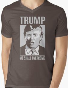 TRUMP- WE SHALL OVERCOMB Mens V-Neck T-Shirt