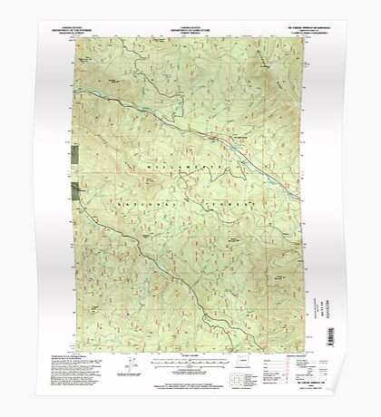 USGS Topo Map Oregon Mc Credie Springs 280682 1997 24000 Poster