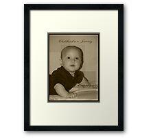 Landon Robert Matthew Bell Framed Print