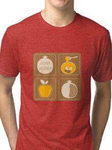 Shanah Tovah Rosh Hashanah Jewish New Year Symbols Illustration Tri-blend T-Shirt