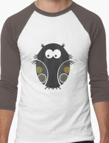Spooky Halloween Owl Men's Baseball ¾ T-Shirt