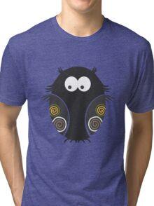 Spooky Halloween Owl Tri-blend T-Shirt