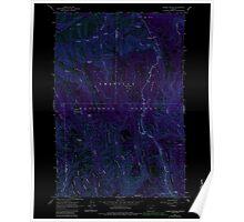 USGS Topo Map Oregon Andies Prairie 278843 1963 24000 Inverted Poster