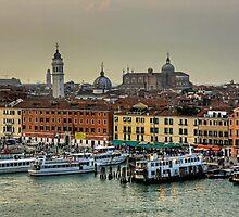 Ferries at the Riva degli Schiavoni by Tom Gomez