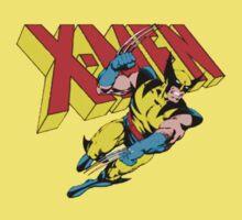 X-Men Wolverine Retro Comic Kids Clothes