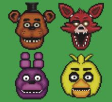 Five Nights at Freddy's 1 - Pixel art - The Classic 4 Baby Tee