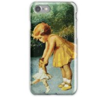 OUT FOR A STROLL IN THE GARDEN iPhone Case/Skin