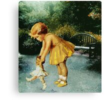 OUT FOR A STROLL IN THE GARDEN Canvas Print