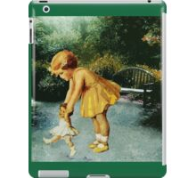 OUT FOR A STROLL IN THE GARDEN iPad Case/Skin