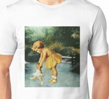 OUT FOR A STROLL IN THE GARDEN Unisex T-Shirt