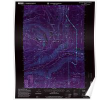 USGS Topo Map Oregon Red Blanket Mountain 281237 1997 24000 Inverted Poster