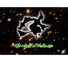 A Witch on the Night of Halloween Photographic Print