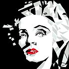 Cubist portrait of actress Marlene Dietrich by alvaroc