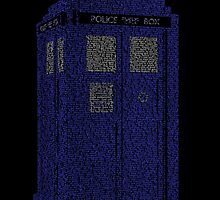Tardis word art by UncleFrogface