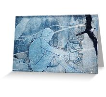 Watching you leave in the moonlit wind - you want me back? Greeting Card