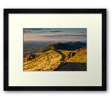 First light on the Malvern Hills Framed Print