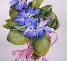 Bouquet for Judi Watercolour Painting by Heatherian
