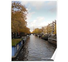Canal in Amsterdam, NL Poster