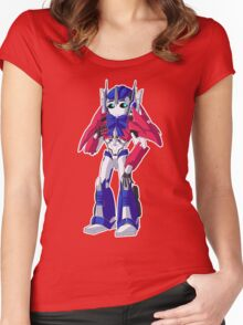 TFP Optimus Prime Women's Fitted Scoop T-Shirt