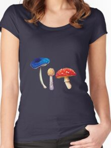 Mush and Toadstools | Dark Women's Fitted Scoop T-Shirt