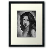 Woman B&W Framed Print