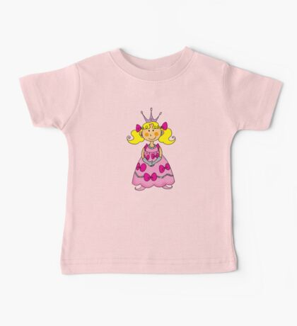 Cute little princess in pink dress  Baby Tee