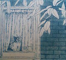 Cat in Window by Cathy McGregor