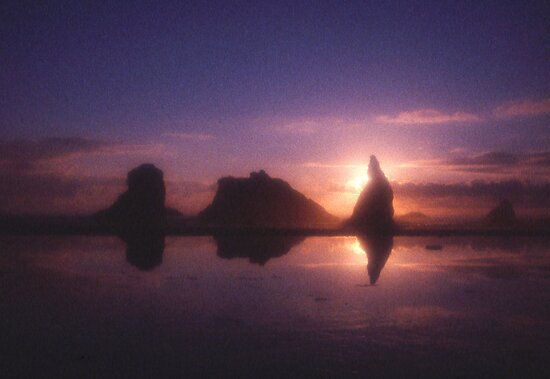 Rock Stacks of Bandon Beach, Oregon by Alex Cassels