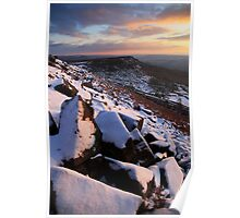 Winter Skies Derbyshire Poster