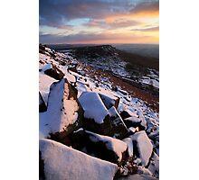 Winter Skies Derbyshire Photographic Print