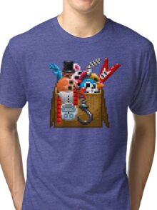 Five Nights at Freddy's 3 - Pixel art - What can we use? - Box of animatronics Tri-blend T-Shirt
