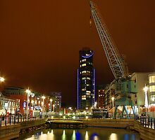 Gunwharf Quays at Night by Dave Godden